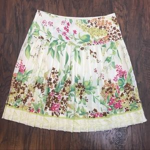 Plenty by Tracy Reese Pleated Floral Silk Skirt 2